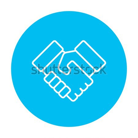 Handshake erfolgreich Immobilien Transaktion line Symbol Stock foto © RAStudio