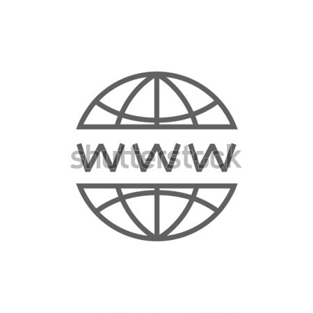 Globe internet line icon. Stock photo © RAStudio