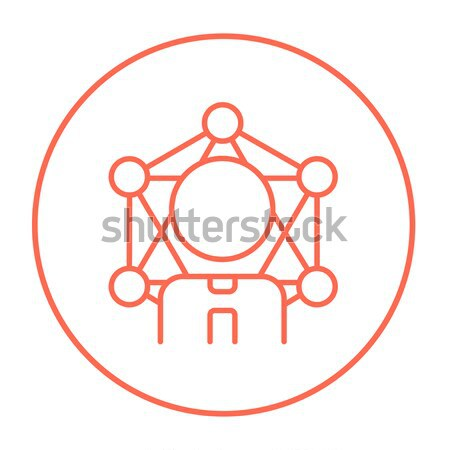 Mining industrial scoop line icon. Stock photo © RAStudio