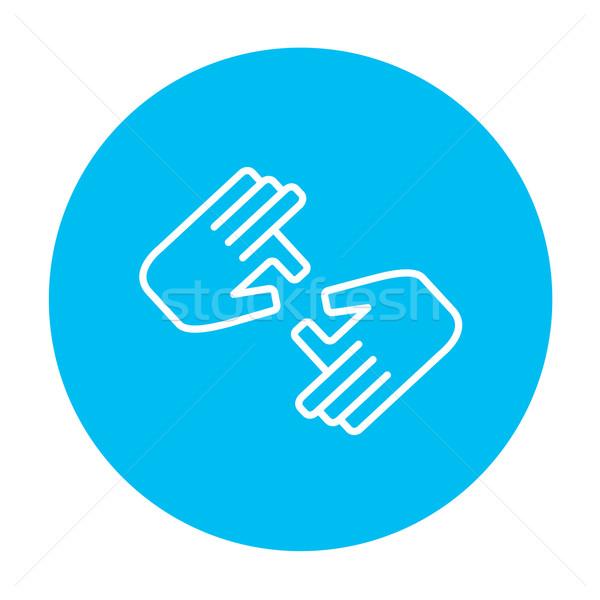 Finger language line icon. Stock photo © RAStudio