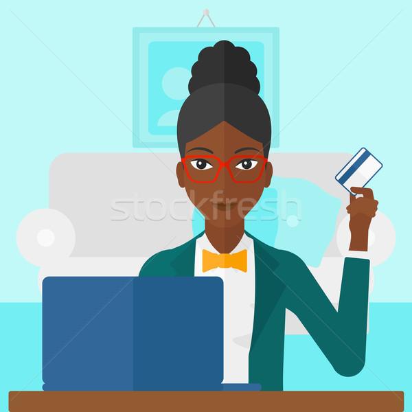 Woman making purchases online. Stock photo © RAStudio
