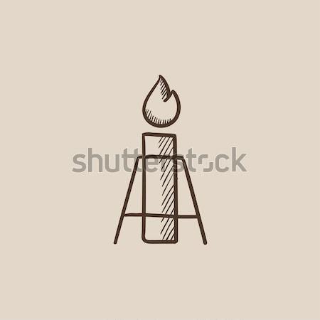 Gaz parlama hat ikon web hareketli Stok fotoğraf © RAStudio