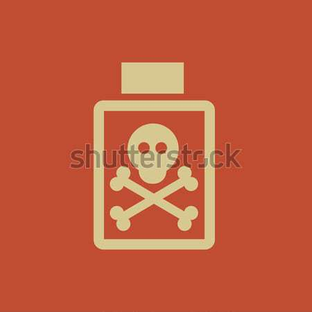 Garrafa veneno linha ícone teia Foto stock © RAStudio