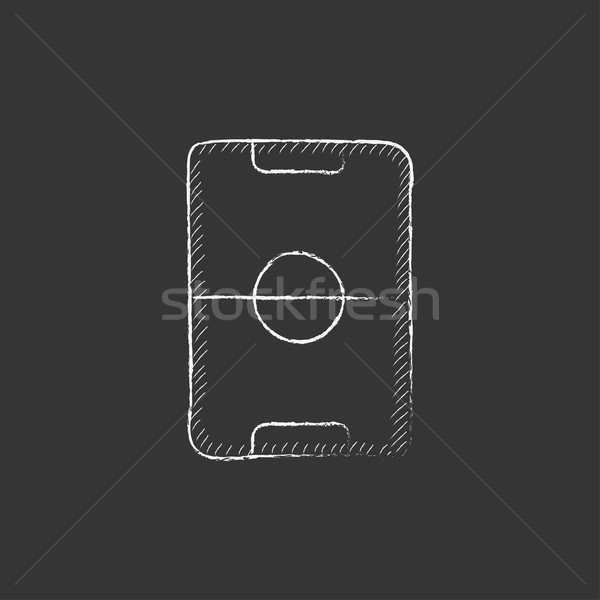 Stadion lay-out krijt icon Stockfoto © RAStudio