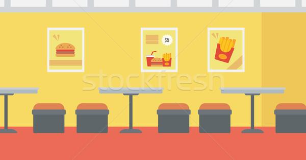 Fastfood restaurant vector ontwerp illustratie horizontaal lay-out Stockfoto © RAStudio