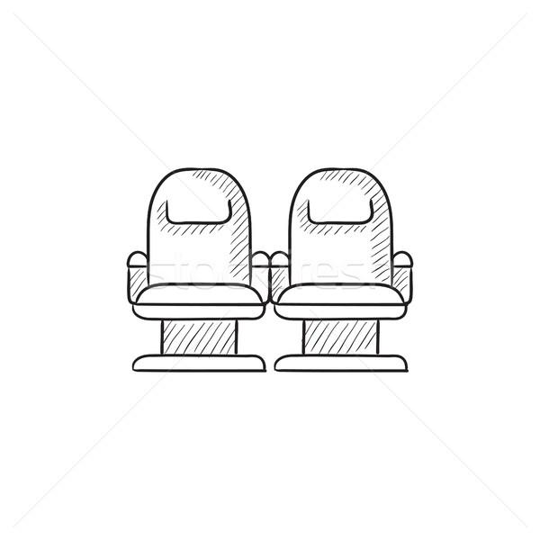 Cinema chairs sketch icon. Stock photo © RAStudio