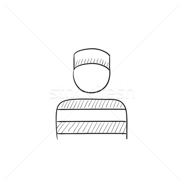 Prisoner sketch icon. Stock photo © RAStudio