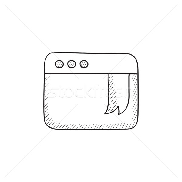 Browser venster bladwijzer schets icon vector Stockfoto © RAStudio