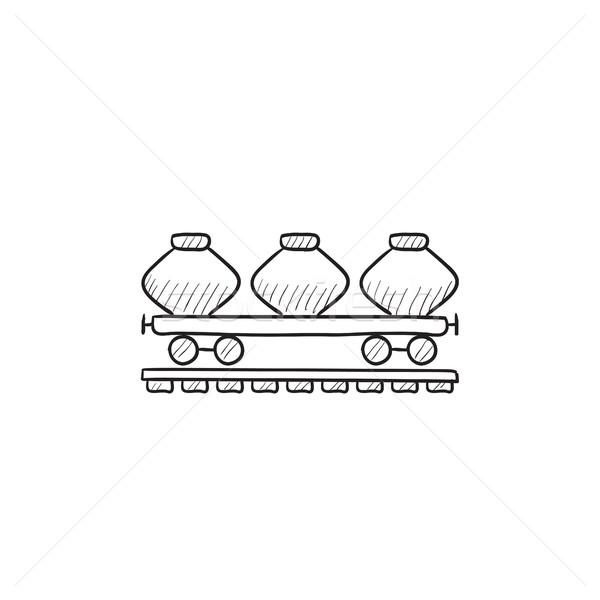 Cargo wagon sketch icon. Stock photo © RAStudio