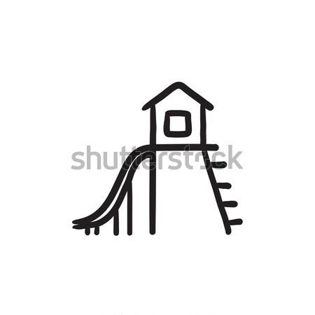 Slide sketch icona vettore isolato Foto d'archivio © RAStudio