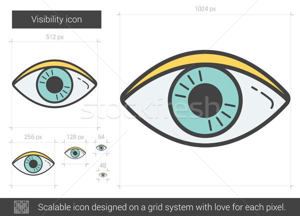 Visibility line icon. Stock photo © RAStudio