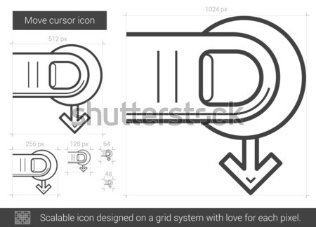 Déplacer curseur ligne icône vecteur isolé Photo stock © RAStudio