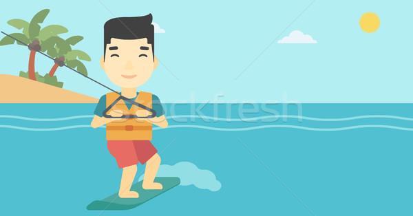 Professional wakeboard sportsman. Stock photo © RAStudio
