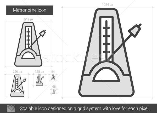 Metronome line icon. Stock photo © RAStudio