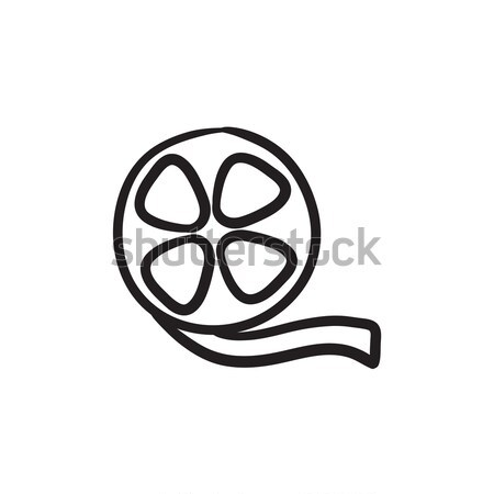 Film reel sketch icon. Stock photo © RAStudio
