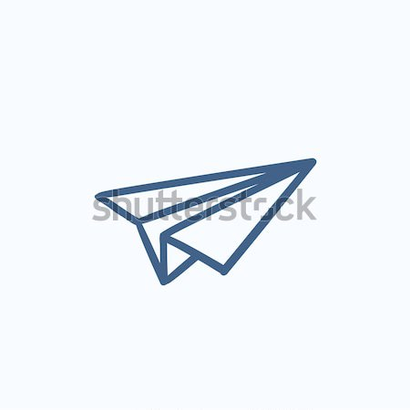 Paper airplane sketch icon. Stock photo © RAStudio