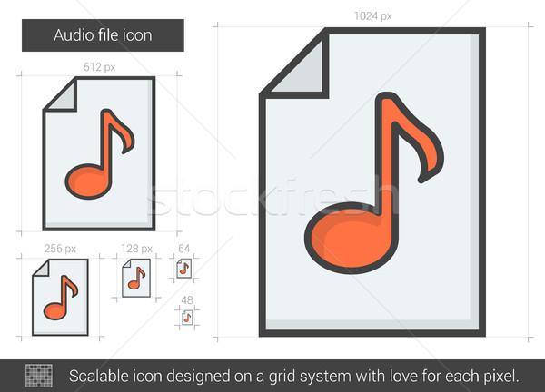 オーディオ ファイル 行 アイコン ベクトル 孤立した ストックフォト © RAStudio