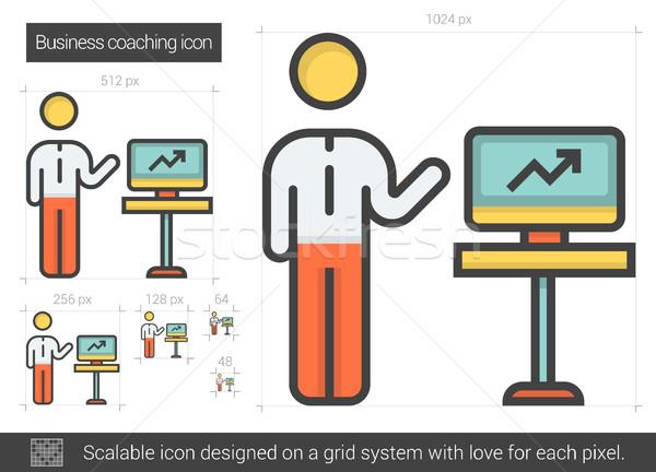 Business coaching line icon. Stock photo © RAStudio