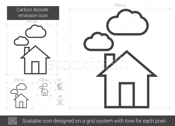 Carbon dioxide emission line icon. Stock photo © RAStudio