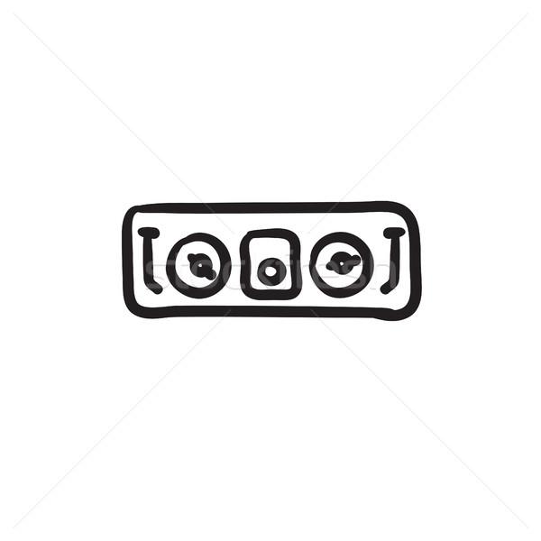 Konzol rajz ikon vektor izolált kézzel rajzolt Stock fotó © RAStudio