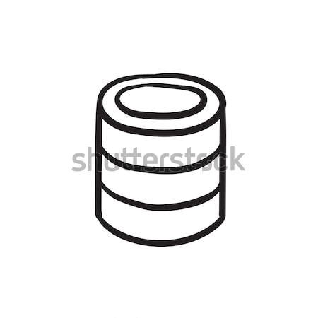 Computer server sketch icon. Stock photo © RAStudio