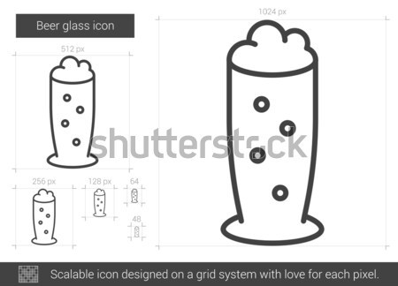Beer glass line icon. Stock photo © RAStudio