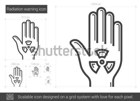 放射線 警告 行 アイコン ベクトル 孤立した ストックフォト © RAStudio