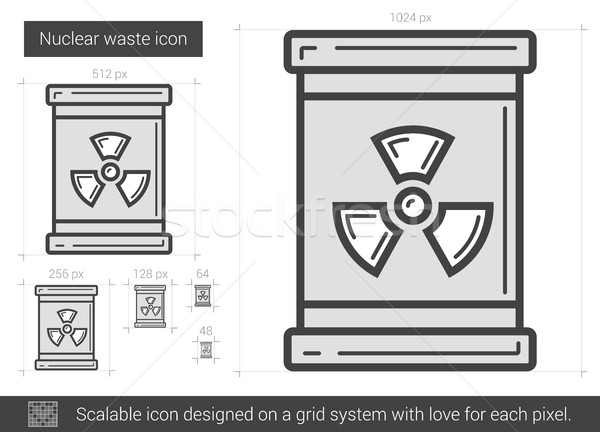 Nuclear waste line icon. Stock photo © RAStudio