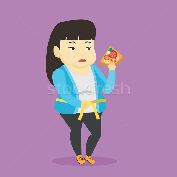 Woman measuring waist vector illustration. Stock photo © RAStudio