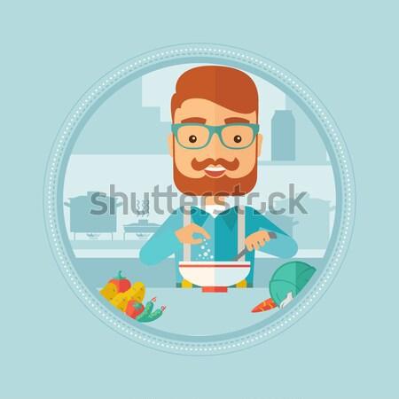 Człowiek salon piękności procedura kosmetycznych maska Zdjęcia stock © RAStudio