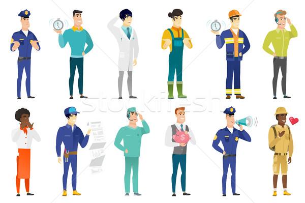 Vector set of professions characters. Stock photo © RAStudio