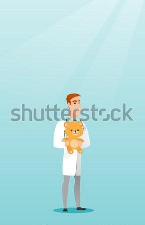 педиатр врач мишка улыбаясь Сток-фото © RAStudio