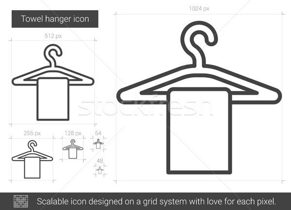 Towel hanger line icon. Stock photo © RAStudio