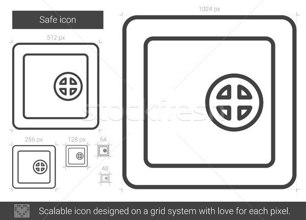 Veilig lijn icon vector geïsoleerd witte Stockfoto © RAStudio