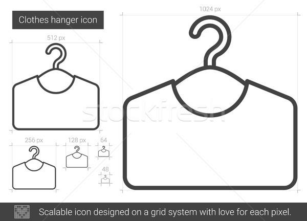 Vêtements cintre ligne icône vecteur isolé Photo stock © RAStudio
