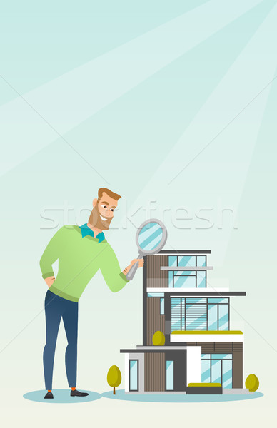 Young caucasian man looking for house. Stock photo © RAStudio