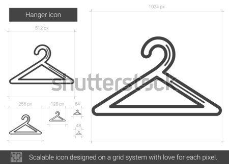 Cintre ligne icône vecteur isolé blanche Photo stock © RAStudio
