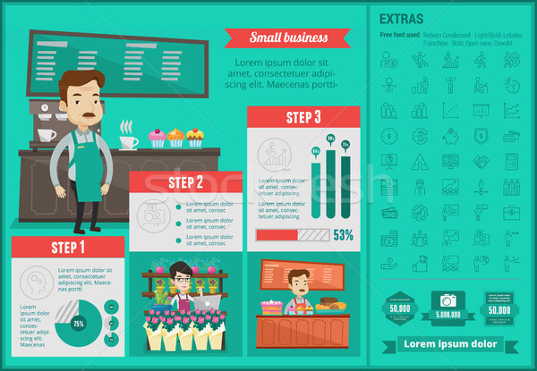Stock photo: Small business infographic template.