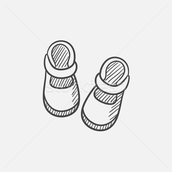 Baby schets icon web mobiele infographics Stockfoto © RAStudio