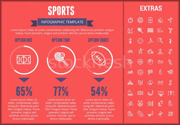 Sport modèle icônes personnalisable Photo stock © RAStudio