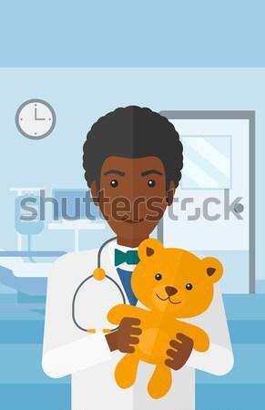 小児科医 医師 テディベア 女性 病院 ストックフォト © RAStudio
