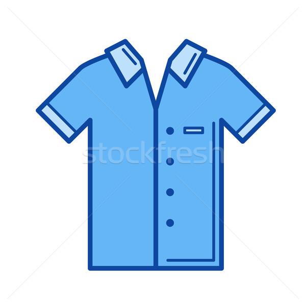 Short-sleeve shirt line icon. Stock photo © RAStudio