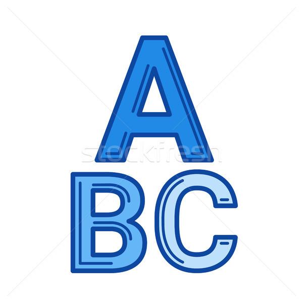 Alfabe hat ikon vektör yalıtılmış beyaz Stok fotoğraf © RAStudio