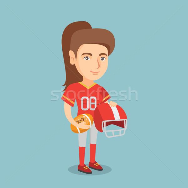 молодые кавказский женщины регби игрок Сток-фото © RAStudio