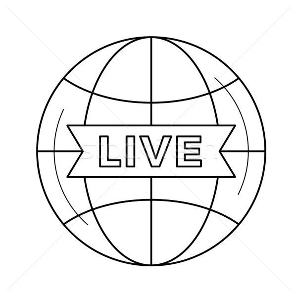 Vivir tv línea icono vector aislado Foto stock © RAStudio