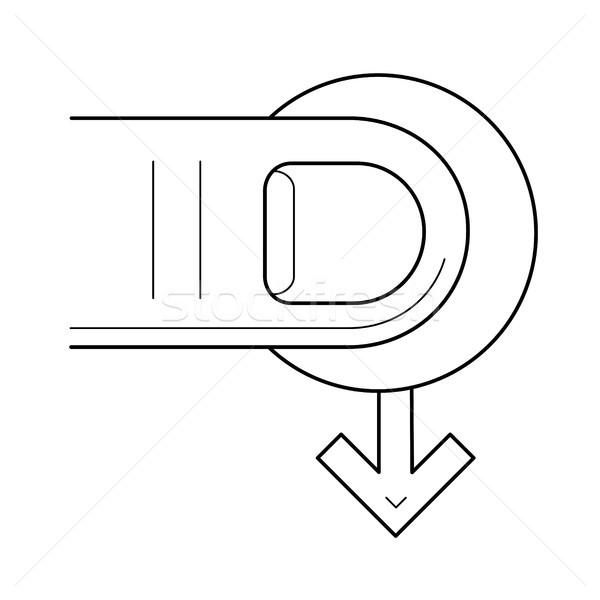 Mover cursor línea icono vector aislado Foto stock © RAStudio