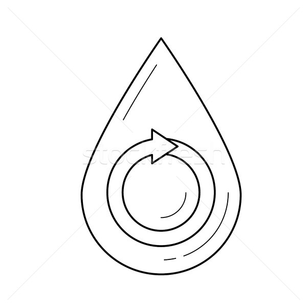 Water drop vector line icon. Stock photo © RAStudio