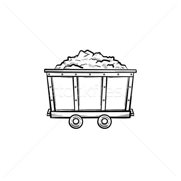 マイニング 石炭 手描き いたずら書き アイコン ストックフォト © RAStudio
