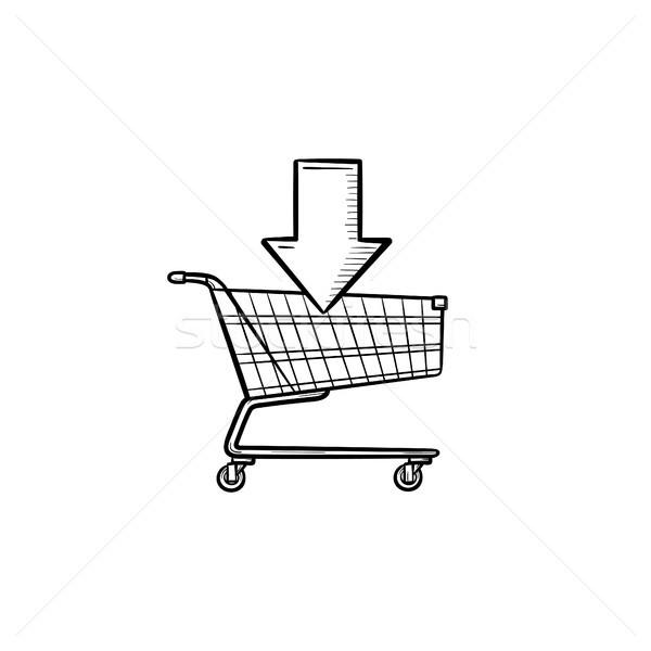 торговых онлайн корзины рисованной болван Сток-фото © RAStudio
