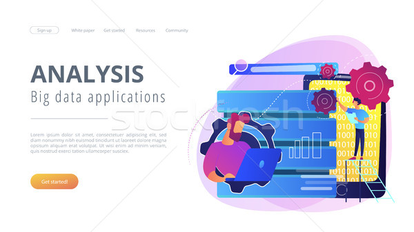 Big data applications concept vector illustration. Stock photo © RAStudio
